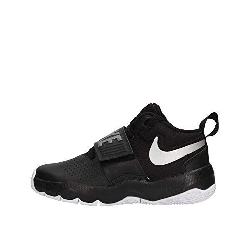 Nike Boy's Team Hustle D 8 (GS) Basketball Shoe, Black/Metallic Silver-White, 6Y Youth US Big Kid
