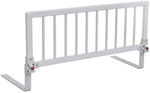 Bettschutzgitter aus Massivholz, zusammenklappbar, für ältere Menschen und Babys, sturzsicher, Fallschutz, obere Höhe, Universal-Schutzgitter (Größe: 88 x 32 cm)