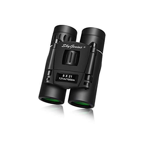 SkyGenius 8x21 Small Binoculars Compact Lightweight For Concert Theater Opera Mini Pocket Folding...
