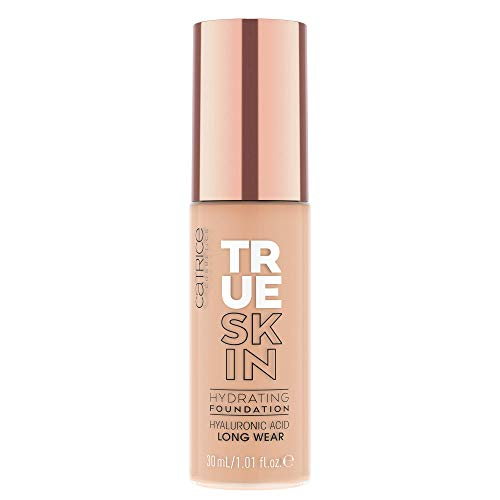 Catrice True Skin Hydrating Foundation, MakeUp, Nr. 020 Warm Beige, nude, für Mischhaut, pflegend, langanhaltend, mattierend, weichzeichnend, natürlich, matt, vegan, ohne Alkohol, ohne Parabene (30ml)