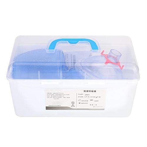 Vobor Manual PVC Adult Ambu Bag, First Aid kit Tool Simple Breathing Apparatus
