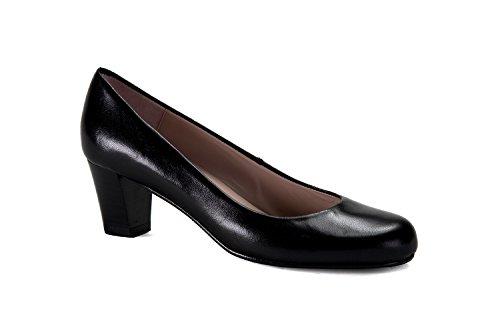 zeddea Napoles Negro - Zapatos de azafata cómodos para Mujer -Talla 39