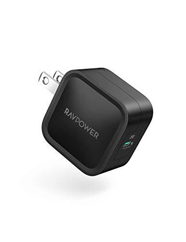 RAVPower USB-C 急速充電器 (30W 最小クラス PD対応)【GaN (窒化ガリウム)採用/折畳式/PSE認証済】iPhone 1...
