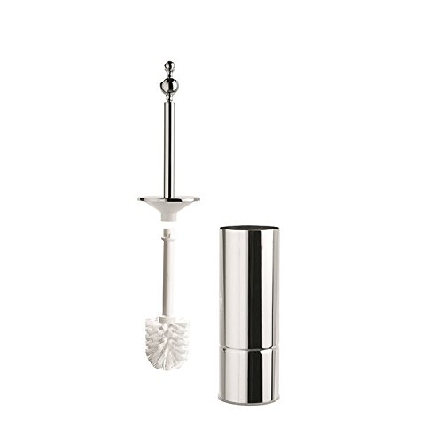Inda a37140cr Toilettenbürstenhalter rund Serie Tosca/Raffaella, Chrom