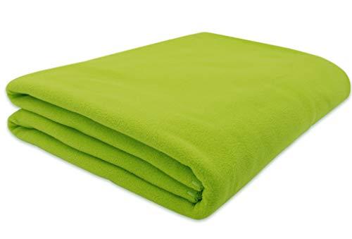ZOLLNER Manta Polar para sofá, Verde, 130x170 cm, en Otros Colores
