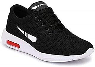 WORLD WEAR FOOTWEAR Men's (1200) Black Casual Sports Running Shoes