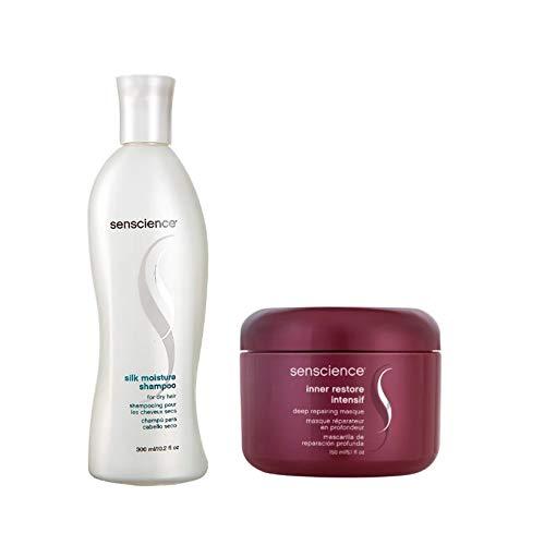Kit Shampoo Senscience Silk Moisture e Máscara Inner Restore