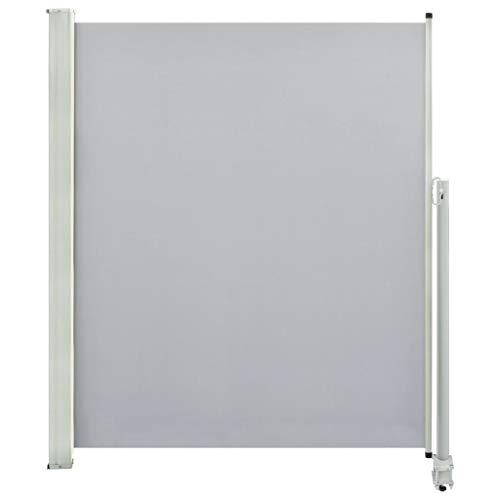 vidaXL Seitenmarkise Ausziehbar 160x300 cm Grau Sichtschutz Windschutz Markise
