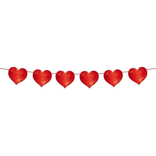 Folat 8714572213004 Dekoration Wimpelkette Flagge–Just Married