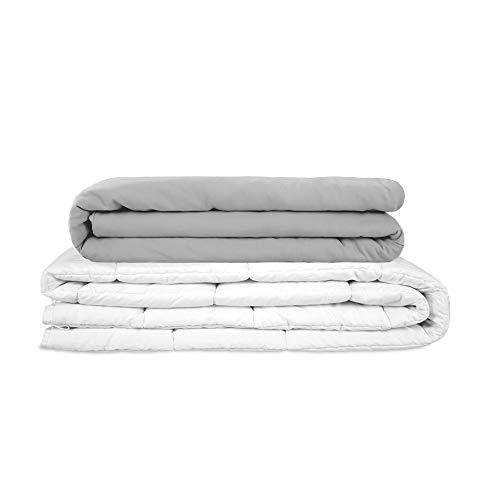 GRAVITY Blanket Manta Pesada para Adultos Weighted Blanket para Dormir Una Excelente Solución para el Estrés - Manta con Peso Básica Gris Tamaño 150x220 cm 6kg