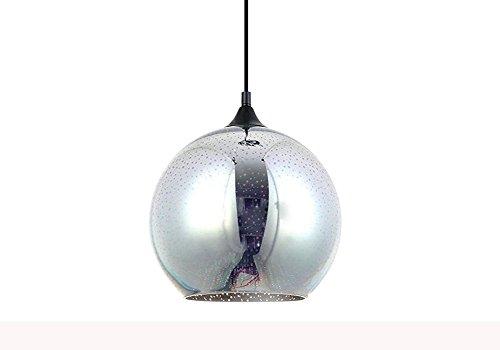 Lampade a sospensione minimaliste di arte del lampadario di vetro del paralume creativo moderno multicolore 3D (Style A)