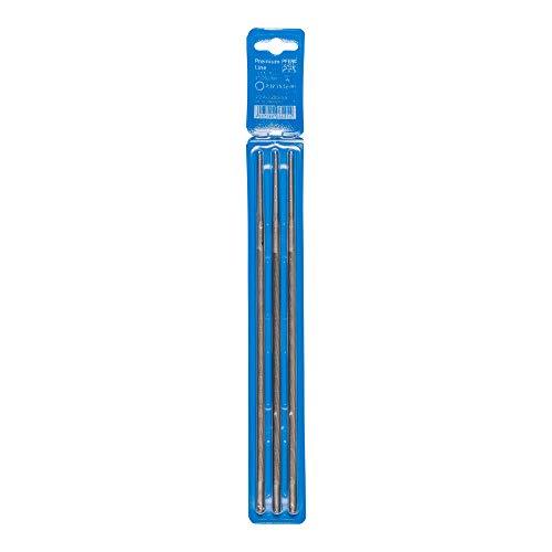 PFERD Kettensägefeilen, 3 Stück, rund, 200mm x 5,5mm, Spiralhieb, Premium Line, in Kunststofftasche, 18600762 – für das manuelle Schärfen von Sägeketten