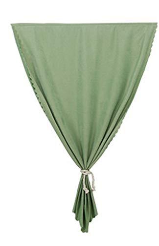 Cortinas opacas de Simple Bedroom, sin perforaciones, con velcro, color sólido Width 1.0 × height 1.0 piece verde