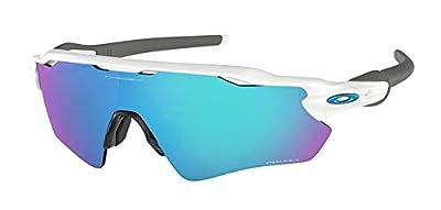 Oakley Radar EV Path OO9208 920873 38M Polished White/Prizm Sapphire Sunglasses For Men+BUNDLE with Oakley Accessory Leash Kit