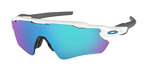 Oakley Radar EV Path OO9208 920873 38M Polished White/Prizm Sapphire Sunglasses For Men+BUNDLE with Oakley Accessory Leash Kit