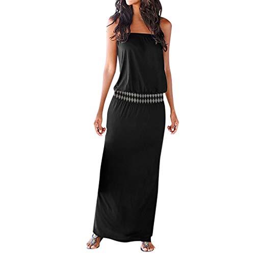 YGbuy-Vestido De Tirantes Sexy con Estampado De Playa para Mujer Falda Larga Falda Sin Tirantes De Un Solo Hombro Vestido Corto Mujer Vestido Africano Ajustado Cóctel Bohemias Manga Corta Floral