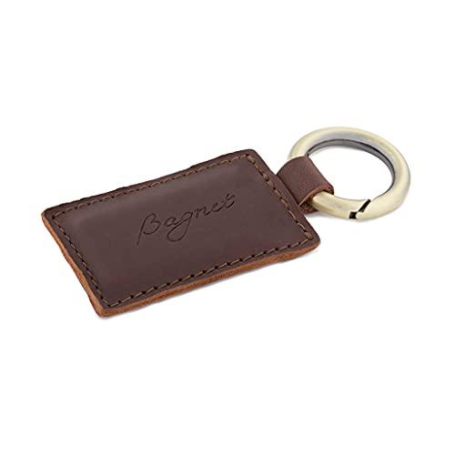 Bagnet Tori, Leather Magnetic Bag Hook , Authentic, Heavy Duty, Handmade Genuine Leather, Purse Hanger, Women's Handbag Holder (Dark Brown)