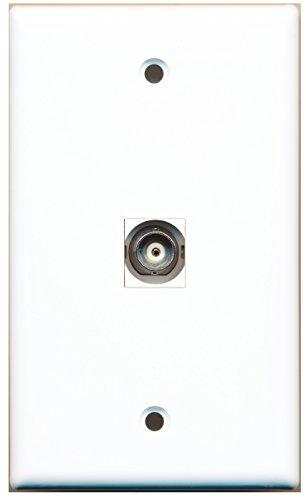 RiteAV 1 BNC Video Wall Plate White with Keystone Coupler Type Jack
