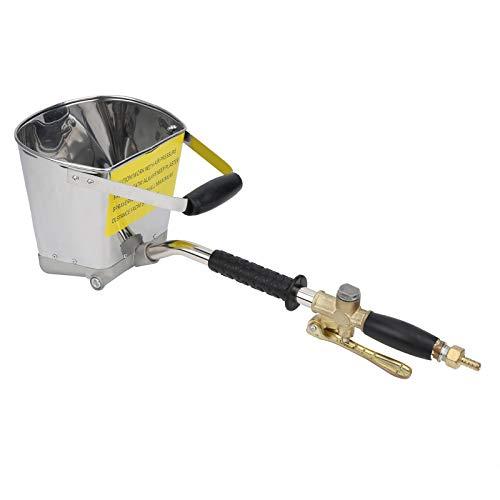 Pulverizador de Estuco de Yeso de 4 Chorros, Herramienta Neumática de Pulverización de Mortero de Cemento, Pistola Pulverizadora de Hormigón con Tolva de Aire Automática, para Pintar Paredes