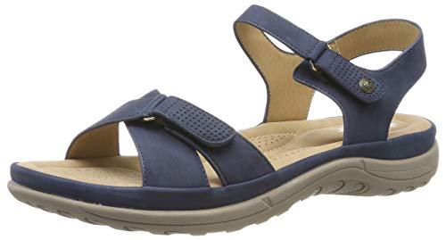 Rieker Damen V8852-14 Geschlossene Sandalen, Blau (Ozean 14), 40 EU