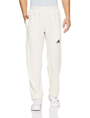 adidas Howzat Herren Cricket weiße Schlagen Bowling Hose Hosen weiß - Weiß, 28