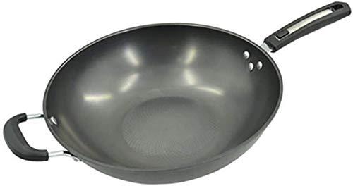 Fonte poêlon, Antiadhésif Sauteuse, Poêle à frire avec poignée Rivet, la conductivité thermique rapide, ne rouille pas, facile à nettoyer, Four Coffre Cookware lalay