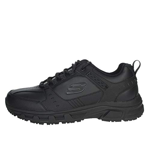 Skechers Men's Oak Canyon-Redwick Trainers, Black (Black Leather/Synthetic/Textile/Black Trim Bbk), 8 UK (42 EU)