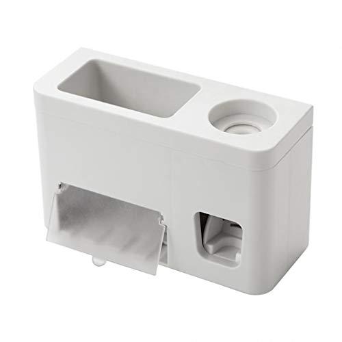 Soporte para cepillo de dientes eléctrico, soporte para cepillo de dientes de pared, exprimidor de pasta de dientes automático dispensador titular de cepillo de dientes Caddy accesorios de baño