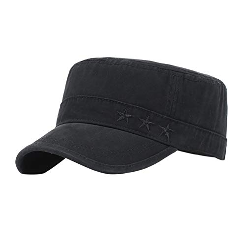Aesy Gorras de Hombre Plana, Gorras de Béisbol, Ajustable Algodón Sombrero Cabeza Gorras de...