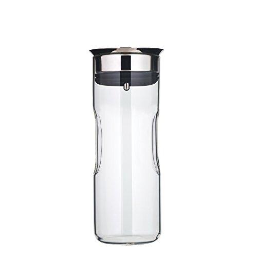 WMF Motion Wasserkaraffe 0,8 l, mit Namensgravur, Höhe 24 cm, Glas-Karaffe, Silikondeckel, CloseUp-Verschluss, Griffmulde, spülmaschinengeeignet, Gravurgeschenk für Geburtstag