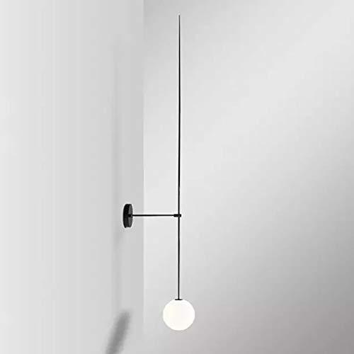 LXSEHN Ligne Moderne Et Minimaliste Lampe Murale Boule De Verre, Chambre Design Étude De Chevet Lampe Murale Couloir Illumination lampes lanternes (Couleur : 25cm)