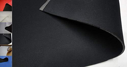 StoffBook SCHWARZ/SCHWARZ NEOPREN-IMITAT Stoff 3MM Stretch Doubleface Stoffe, C202