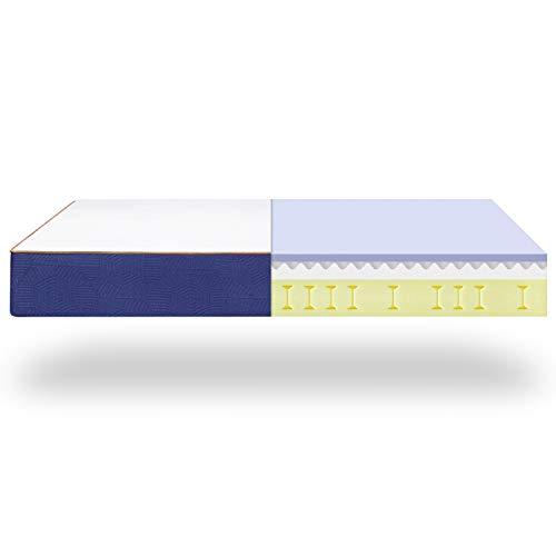 Colchón viscoelástico BedStory., azul, 90 x 200 cm