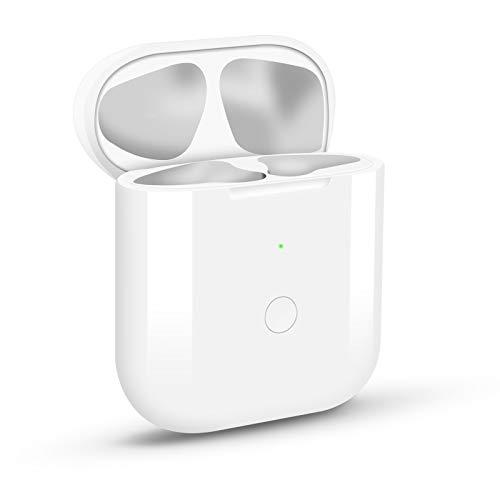 Hearkey Kabelloses Ladecase Hülle Kompatibel mit Kopfhörer 1 und 2, Wireless Charging Case mit Bluetooth Synchronisierungstaste Sync Button Weiß