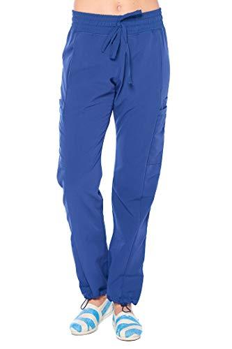 ANGEL UNIFORMS- Vicky 6-Pocket, Slim-Fit Stretch Scrub Pants with Elastic Waistband Medical XL Navy