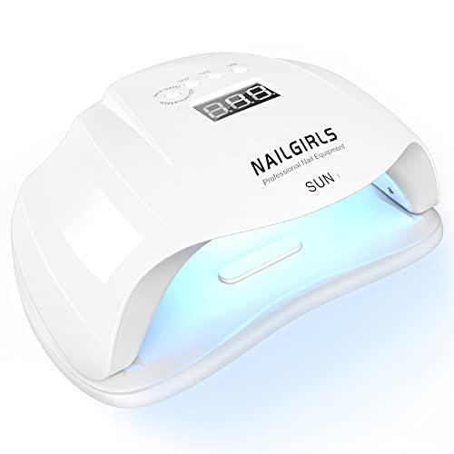 NAILGIRLS ネイル硬化ライト 54w プロ向け LEDネイルドライヤー 無痛モード機能付き UVライト ジェルネイルライト レジン ライト 快速硬化 自動センサー機能 全ジェル対応 日本語使用マニュアル…