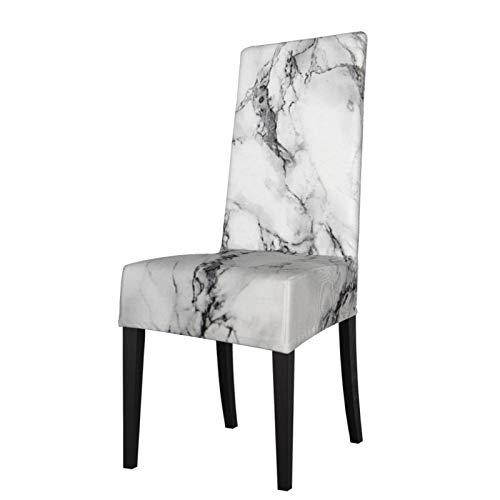 Feamo Stuhlhusse für Esszimmerstuhl, Stretch-Stuhlbezug, Marmor-Stuhlhussen für Esszimmerstühle, Stuhlschoner für Hotelzeremonie, Party, Haustierschutz