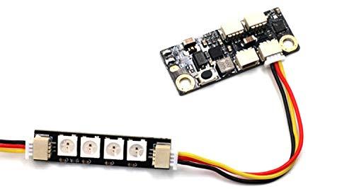 Condensadores por Junta de Control de RC Drone FPV Racing Light LED 2-6S 5V / 2.5A WS2812 4 lámparas en Paralelo (Color : Control Board)