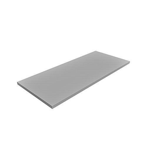 Regalboden Einlegeboden LICHT-GRAU 767 x 437 mm (L 76,7 cm x B 43,7 cm) Fachboden für 80 cm Küchenschrank Spanplattenzuschnitt mit Kanten - ABS Kanten und Melaminkanten - livindo - grau hellgrau