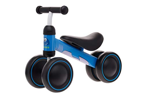TheCroco Lightweight Balance Bike for Toddlers and Kids… (Blue Shark, Baby Model (12-24 Months))
