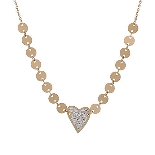 Amor Femenino Collar De Diamantes De Imitación Luz Nicho De Lujo Viento Frío Ins Tendencia Personalidad Simple Suéter Cadena Joyería
