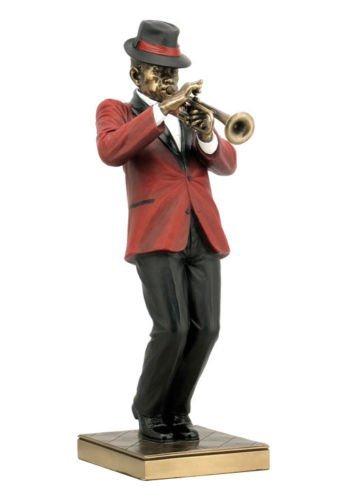 Jazz Trumpet Player Statue Sculpture