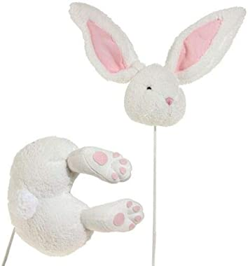 "27"" Easter Bunny Rabbit Head & Butt Set~Pick/Stake/Spray/Wreath - by CandyCane3"