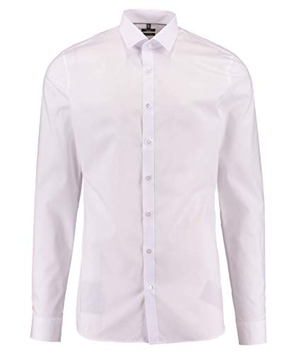 OLYMP Herren Hemd No. 6 Super Slim Fit Langarm,Weiss, Gr,41 ( L)