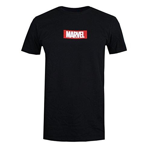 Marvel Box Logo T-Shirt, Noir (Noir), M Homme