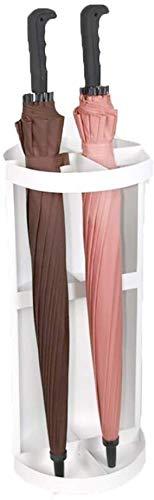 HEWEI Ronde klassieke paraplu en wandelstok gemaakt van metaal (kleur: wit)