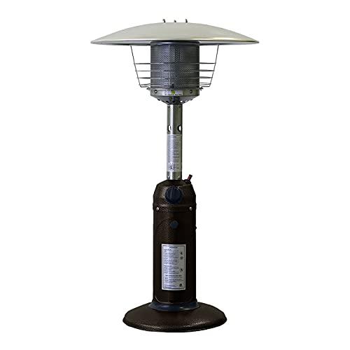 ZRXRY Calentadores de Patio para Uso en Exteriores, Calentador portátil de 10,000 BTU, Calentador de propano de Mesa de Bronce para Garaje, Camping, Senderismo, picnics,Brown