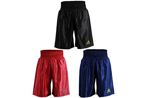 adidas Satin Boxing Training Sparring Fight Shorts Boxen, Schwarz, Größe S