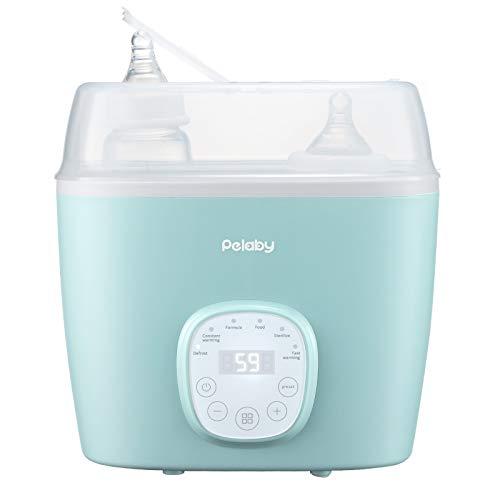Pelaby 6 funciones Calienta Biberones,Calienta Biberones de Alimentos para Bebés,Esterilizador de Vapor,Con Pantalla Táctil LCD, sin BPA, Modo Constante 24H,Ompatible con Cualquier Biberón