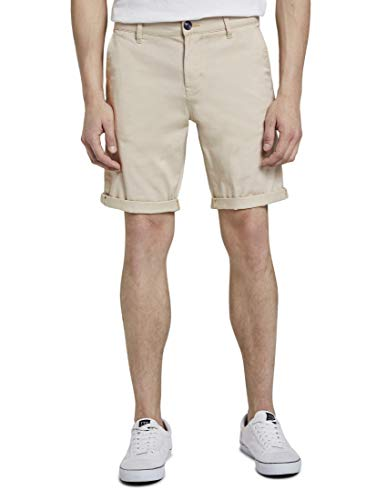 TOM TAILOR Denim Herren Slim Chino Shorts, 10336-Light Cashew Beige, M